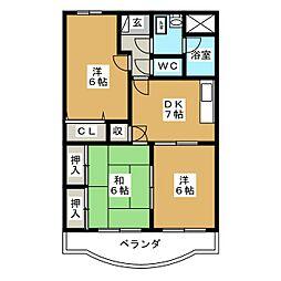 サンライズ田宗II[3階]の間取り