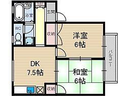 サンソレイユI[2階]の間取り