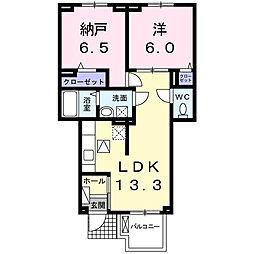 ジュビリーハウス[2階]の間取り