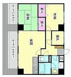エステハイム横浜[801号室]の間取り