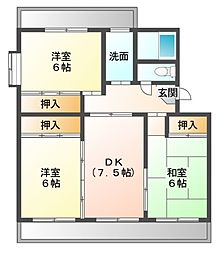 クイーン・ビーマンション[1階]の間取り