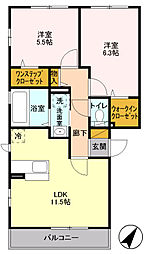 コンフォート町田[0201号室]の間取り