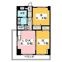 第4ジーオンビル[2階]の間取り