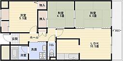 メゾンドゥボヌール[4階]の間取り