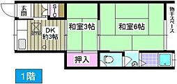 [一戸建] 大阪府大阪市大正区三軒家西1丁目 の賃貸【/】の間取り