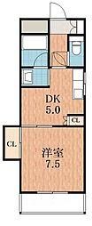 清和ハイツ2番館[3階]の間取り