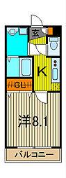 ハイムフローラ[2階]の間取り