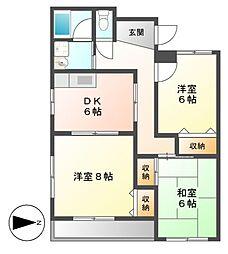 PIAA YOSHINO(ピア ヨシノ)[3階]の間取り