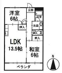 マンション寿 2階[203号室]の間取り