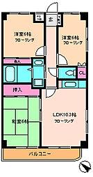 ウィーブ中央[6階]の間取り