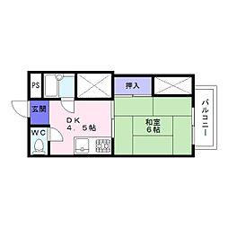 グランドハイツカワハラ[2階]の間取り