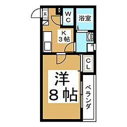 クレフラスト小鶴新田駅西C[1階]の間取り