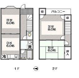 [テラスハウス] 東京都江戸川区東葛西2丁目 の賃貸【/】の間取り