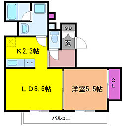 インザグレイス東三国[4階]の間取り
