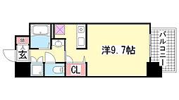 スワンズコート新神戸[803号室]の間取り