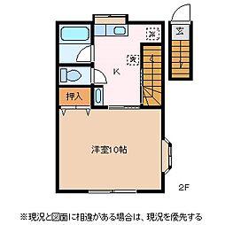 HEE RYUN[2階]の間取り