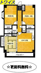 東京都青梅市千ヶ瀬町2丁目の賃貸マンションの間取り