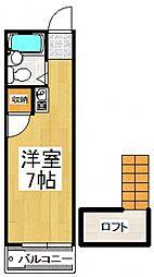 スペースコート秋津[1階]の間取り