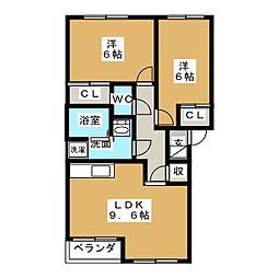 エクセレンスIII[2階]の間取り