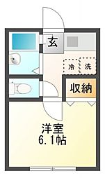 AZEST-RENT一橋学園II[1階]の間取り