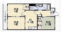コートビレッヂ赤塚[401号室]の間取り