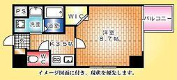 グラビスコート広島駅前通り[202号室]の間取り