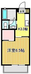 ジュピター片倉壱番館[102号室]の間取り