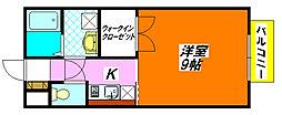 グランメール 203号室[2階]の間取り