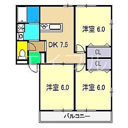 サンハイムC棟[2階]の間取り