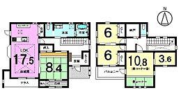 ハウスメーカー施工の新築物件です17.5帖のLDKには床暖房を設置。キッチンや洗面もこだわりの設備を採用しております。
