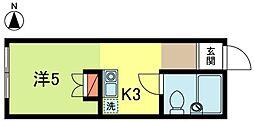 コートハウスワカナ[1階]の間取り