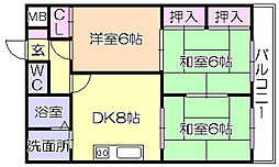 SKサンコ-諏訪野[502号室]の間取り