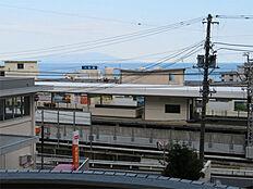 駅がすぐ目の前です。