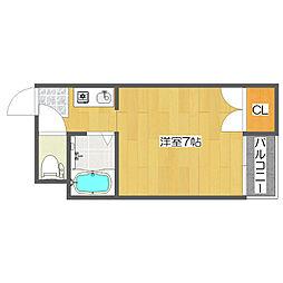 セラ北加賀屋A[5階]の間取り