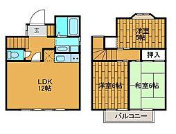 [テラスハウス] 東京都町田市本町田 の賃貸【/】の間取り