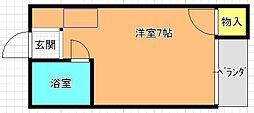 若江岩田駅徒歩4分 グレース・マンション[2階]の間取り