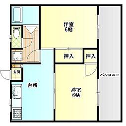 コーポ吉賀[3階]の間取り