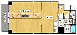 京都府京都市下京区上鱗形町の賃貸マンションの間取り