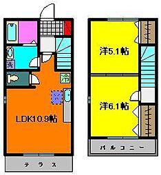 [テラスハウス] 千葉県千葉市稲毛区小仲台8丁目 の賃貸【/】の間取り