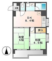 メゾン鶴舞[9階]の間取り