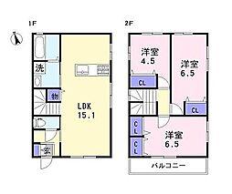 [一戸建] 兵庫県姫路市継 の賃貸【/】の間取り
