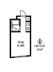 トキワマンション[102号室]の間取り