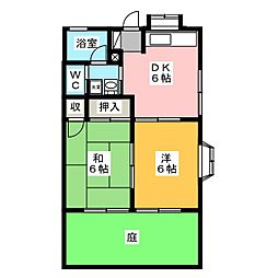 ハイツサンサーラ[1階]の間取り