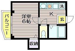 ハイツサノ[202号室]の間取り
