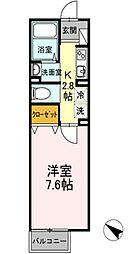 DL メゾン ド プランドール [ペット可・D-ROOM][106号室]の間取り