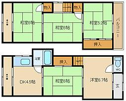 [一戸建] 大阪府八尾市老原6丁目 の賃貸【/】の間取り