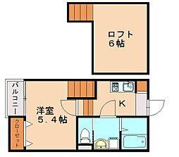 仮)クレオ土井弐番館[2階]の間取り