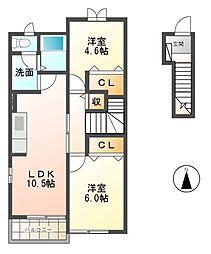 ファインヴィラIII[2階]の間取り