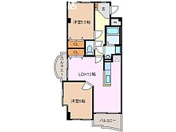 ラ・ボジョワールIII[1階]の間取り