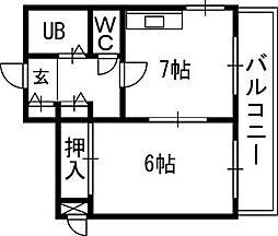 札幌JOW2ビル[801号室]の間取り